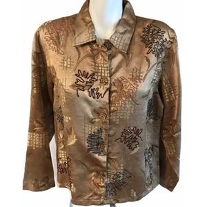 Tantrums Collection Gold Colored Jacket Medium